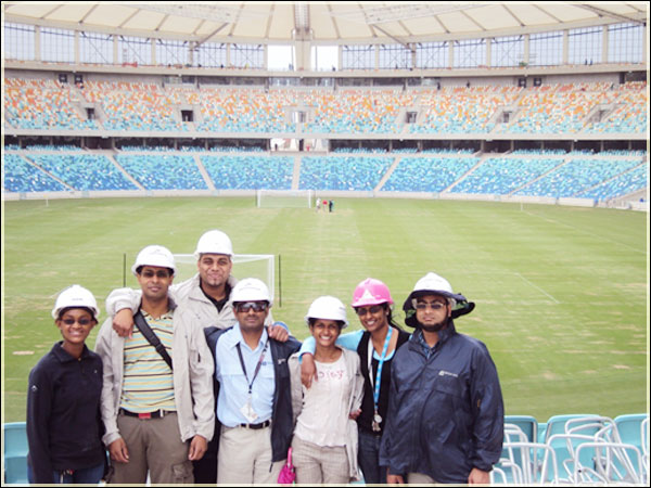Quantity Surveying Construction Team of New Durban Stadium 2009